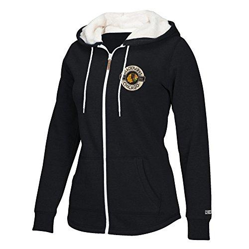 - adidas NHL Chicago Blackhawks Women's CCM Full Zip Plush Hoodie, X-Large, Black