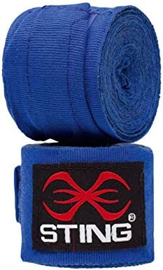 Blue AIBA Approved Sting-Boxing Hand Wraps Official GB /& England Products