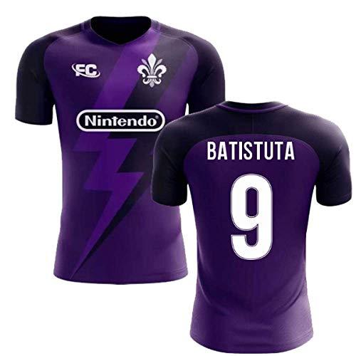- Airosportswear 2018-2019 Fiorentina Fans Culture Home Concept Football Soccer T-Shirt Jersey (Gabriel Batistuta 9)