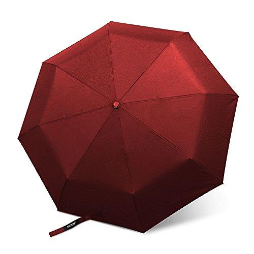 InnooTech Regenschirm Automatischer Taschenschirm Stockschirme mit 96cm Durchmesser für Damen und Herren, Sturmfest Windfest Stabil Klassisch Bordeauxrot