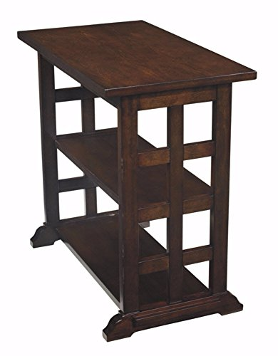 Ashley Furniture Signature Design – Braunsen Chairside End Table – 2 Shelves – ...