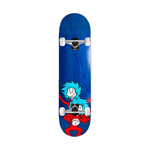 Almost Skateboard Assembly Dr. Seuss Cat in The Hat Thing Stacked Blue 8.0