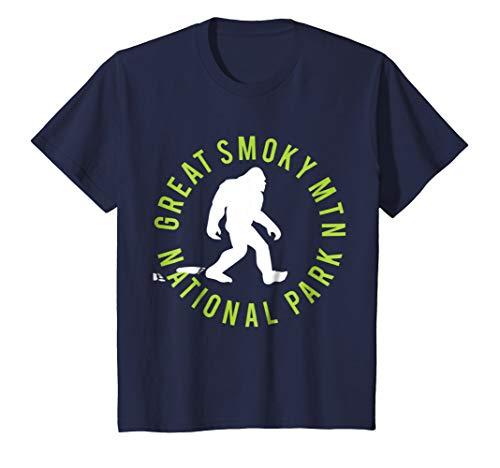 - Kids Great Smoky Mtn. National Park Bigfoot T-shirt 6 Navy