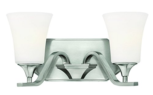 Hinkley Lighting 5362BN Brantley 2-Light Outdoor Light, Brushed - Arm Sconce Twin