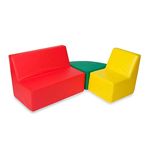 Foamcraft Foamnasium™ Straight Back Seating Group in Red/Yellow/Green by Craft Foam
