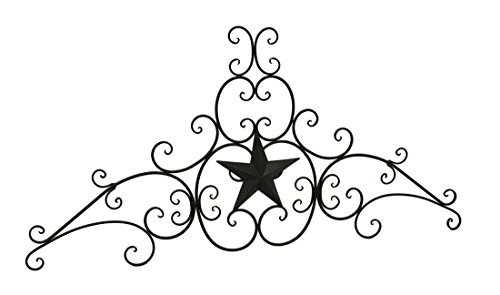 Traditional Scrolled Metal - Western Star Decorative Metal Scroll Wall Sculpture 48 Inch