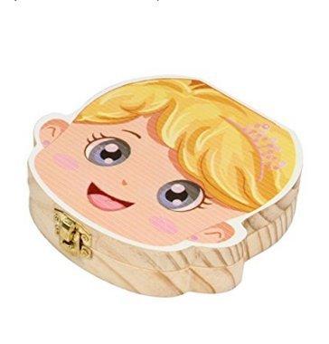 colecci/ón de dientes ni/ña Caja organizadora de dientes de madera para beb/é caja espa/ñola Op.h