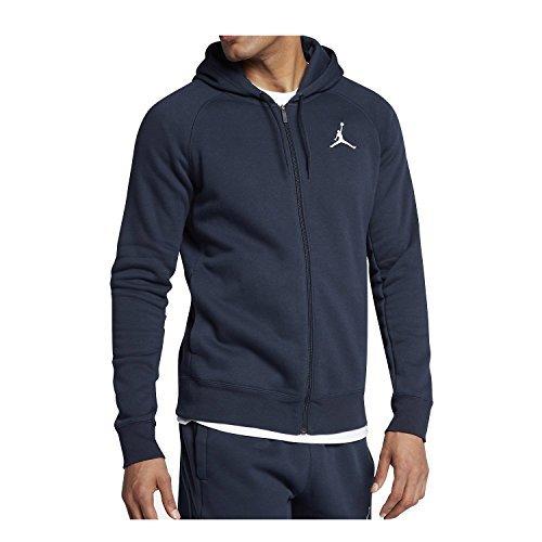 90e974d6527f Galleon - Nike Mens Jordan Flight Full Zip Hooded Sweatshirt Midnight Navy White  823064-410 Size Medium