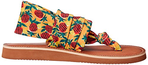 Lavanderia Sporca Da Donna Cinese Lavanderia Sandalo Piatto Sandalo Arancione / Multi Lycra