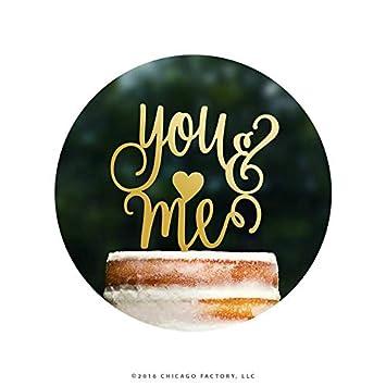 Script You And Me Wedding Cake Topper Lyrics Gorgeous Elegant
