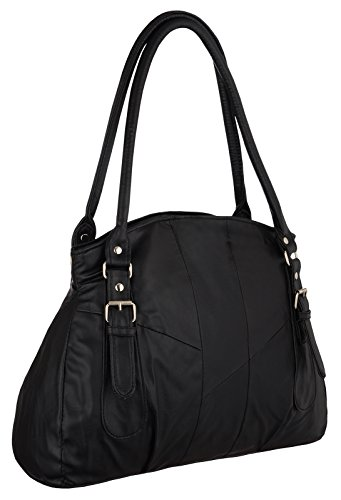Ladies Ladies Handbag Shoulder Faux Womens Black Leather Faux Bag dzWxgSn