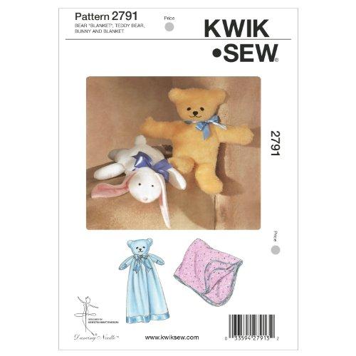 Teddy Bear Knit Pattern (Kwik Sew K2791 Bear Blanket Sewing Pattern, Teddy)