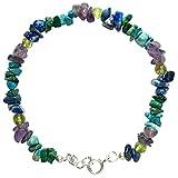 WCJ Chakra Healing Power Bracelet for ASTHAMA :Natural Gemstones, Balancing Reiki-Yoga-Meditation Crystal Healing: Unisex. Adjustable.