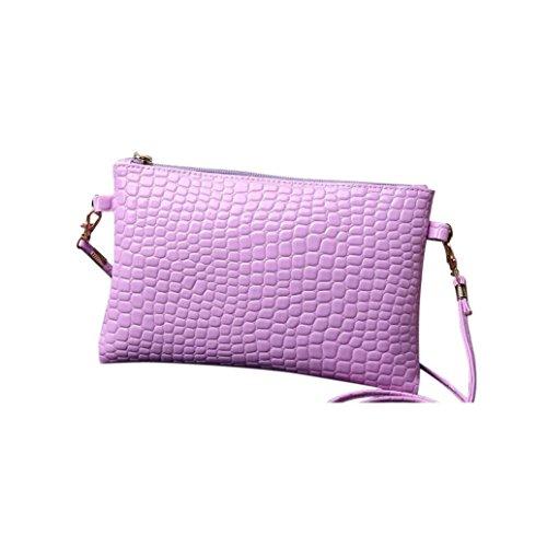Crossbody De Patrón Luz Púrpura De Cocodrilo Bolsa Damas De Sólida Muium Bolso Color Del Mujeres Cuero De De De Bolso Moda Hombro Bxqgzgf