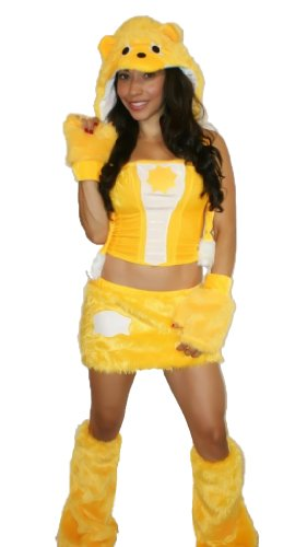Sexy Teddy Bear Costumes - sexy Yellow Sunshine Teddy Bear Halloween Costume Small