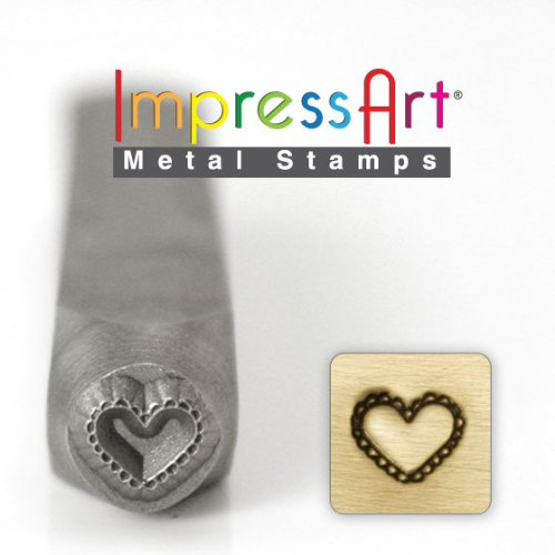ImpressArt Design Stamps, 6mm, Lace (Heart Jewelry Stampings)