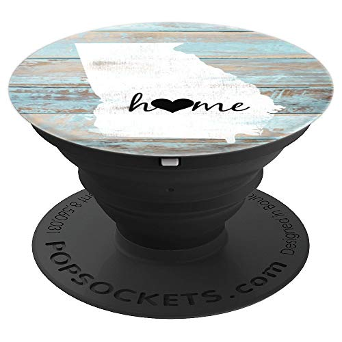 - Georgia Rustic Home Pride US State Distressed Look - PopSockets Grip and Stand for Phones and Tablets