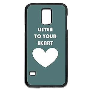 Samsung Galaxy S5 Cases Listen Heart Design Hard Back Cover Shell Desgined By RRG2GKimberly Kurzendoerfer