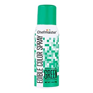 Chefmaster Edible Spray Cake Decorating Color 1.5oz Can - Green