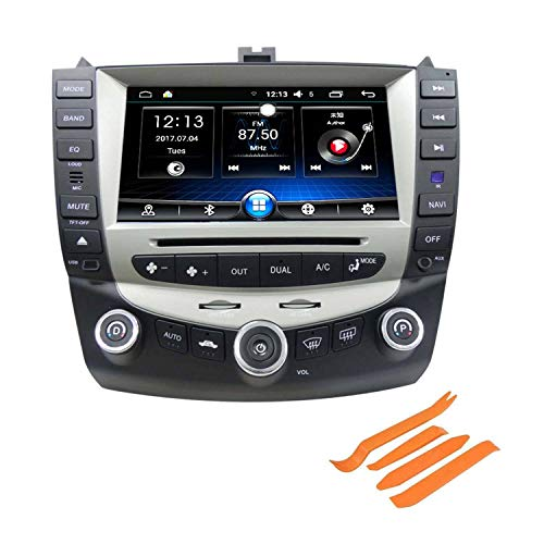 COROTC Compatible with 7th 2003 2004 2005 2006 2007 Accord Single Zone 8 Inch Digital HD Touchscreen DVD GPS Navigation System, Android 6.0 with 4Pcs Panel Removal Tools