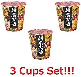 [3 Cups Set] Acecook Menya Musashi Fushichou Ramen Soy Sauce Cup Noodle