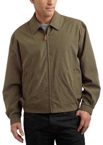 London Fog Men's Tall Size Auburn Zip-Front Golf Jacket, Olive, LT ()