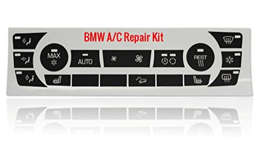 Worn BMW AC Button Repair Kit For Most 328i 335i 325i 335xi BMW 3 Series Models With Like Climate Controls - Made In America And Made To Last! -