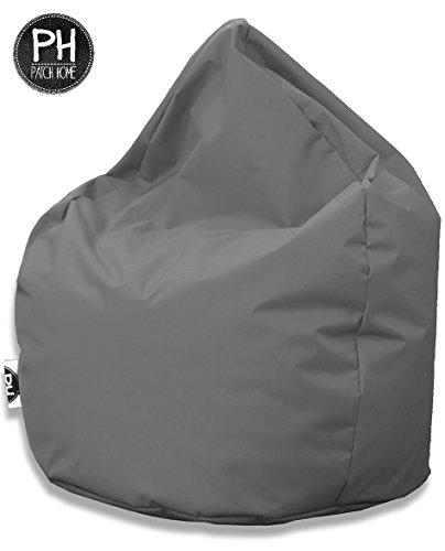 Patchhome Sitzsack Tropfenform Anthrazit für In & Outdoor XL 300 Liter - mit Styropor Füllung in 24 versch. Farben und 3 Größen