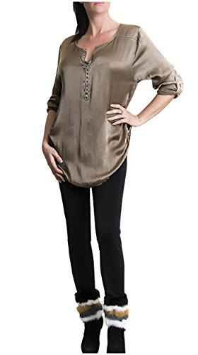 STEKOST - Camiseta de manga larga - para mujer Beige