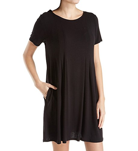 Donna Karan Women's Plus Size Modal Spandex Jersey Sleepshirt Black 2X
