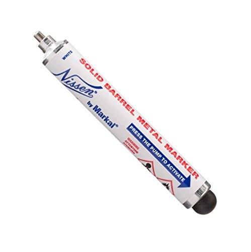 Nissen Solid Paint Markers - Nissen by Markal 28710 Solid Barrel Metal Marker, White (Pack of 12)