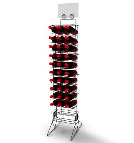 FixtureDisplays Wine Bottle Rack Liquor Rack Wire Metal Champagne Display Bar Storage Stand 19413! by FixtureDisplays (Image #3)
