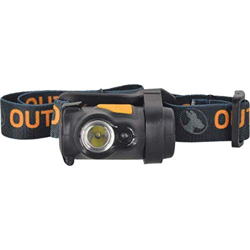 Tikka Led 3 Headlamp (Outback Digger Headlamp Compact 100 Lumen 3 Watt Cree LED 4 Function High/Low White and Solid/Flashing Red with Tilt Includes 3 AAA Alkaline Batteries)