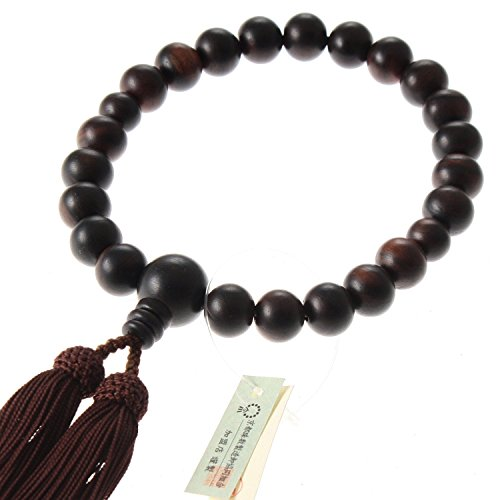 (Kyoto-made Ojuzu Buddhist Prayer Beads, Shimakokutan Ebony Wood)