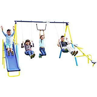 Sportspower Super First Metal Swing and Slide Set