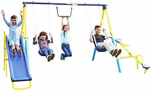 Play Super Slide - Sportspower Super First Metal Swing and Slide Set