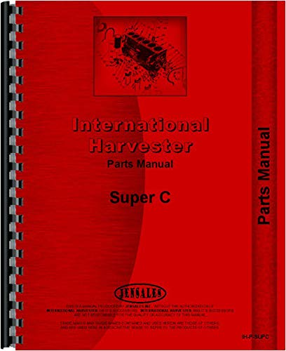 Farmall Super C Tractor Parts Manual (1951-1954) (1951 to 1954) by Jensales
