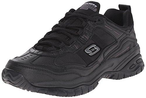 Skechers for Work Men's Soft Stride Mavin Work Shoe, Black, 7.5 W US by Skechers