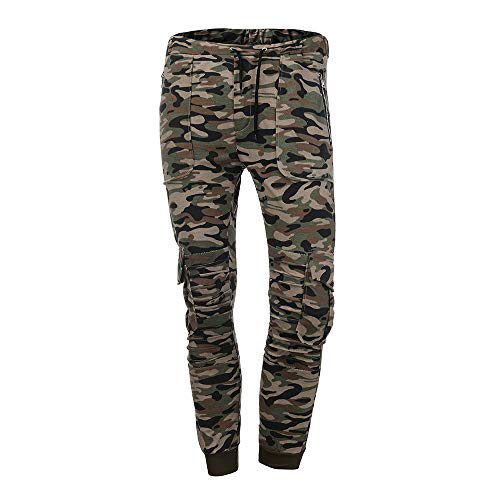 Spbamboo Mens Camouflage Fold Pocket Slim Fit Casual Sport Overall Trouser Pants by Spbamboo (Image #1)