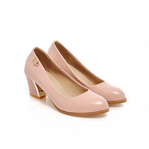 Allhqfashion Donna Tacco A Spillo Con Cinturino E Scarpe Col Tacco Alto In Metallo Rosa