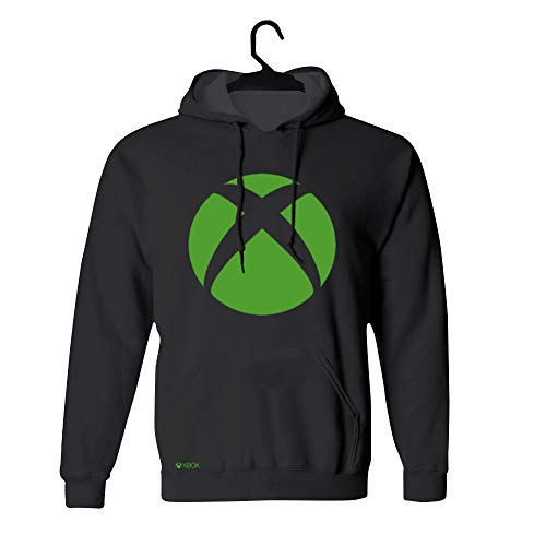 Moletom Logo, Xbox, Adulto Unissex, Preto, P