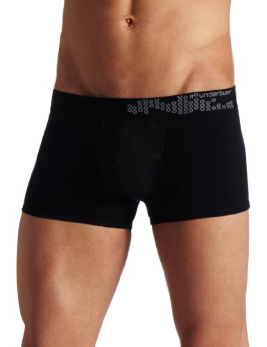 ROunderbum Men's Package Enhancing Padded Trunk, Black, Small