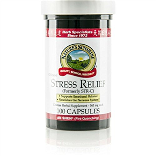 Nature's Sunshine Stress Relief, Chinese Herbal Supplement 100 Capsules Each(Pack of 4)