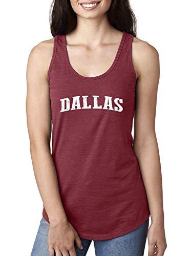 Texas State Flag Proud Texan Dallas Traveler`s Gift Women's Racerback Tank Top (LSC) Scarlet ()