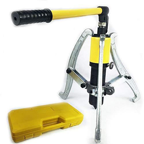 15T Hydraulic Puller Kit,3 in 1 2/3 Jaw Hydraulic Gear Puller Hydraulic Bearing Separator Puller Kit with Storage Box ()