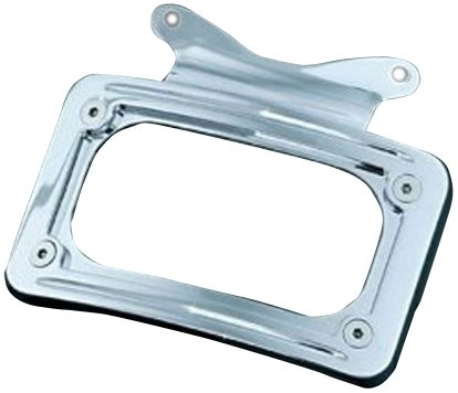 Kuryakyn Chrome Curved License Plate Mount 2010+ Harley FLHX Street Glides/ FLTRX Road Glide Custom 3157 (Kuryakyn Curved License Frame Plate)