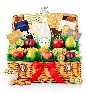 ration Fresh Fruit & Premium Snack Food Gift Basket - Fresh Fruit, Gourmet Premium Snack Food Gift Basket (Gifttree Fruit Basket)