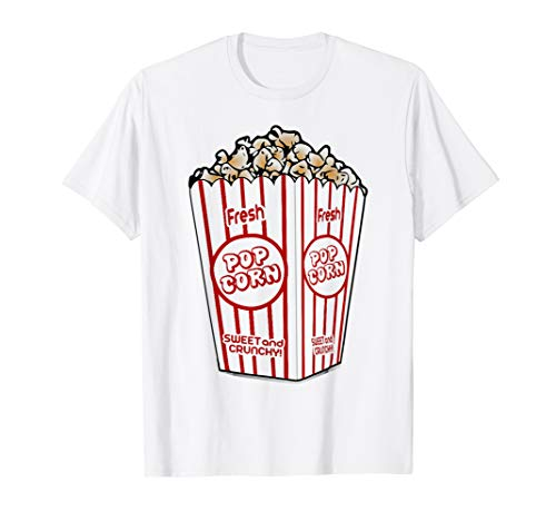Popcorn T-Shirt Funny Easy Last Minute Halloween Costume Tee