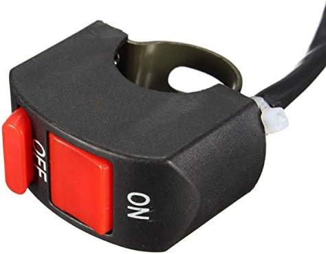 JPLJJ 7/8インチ 22mm オートバイ スイッチ ダートピットクワッド バイク オンオフ キル ストップ ボタンライト ホーン(10パック)