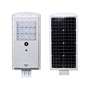 LED Solar Street Light – Dusk to Dawn with Motion Sensor – 50W and 5000W Lumens – 5000K Daylight – Waterproof IP65